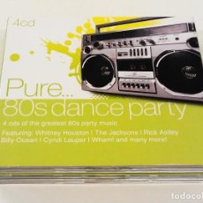 CDs de Música: PURE 80S DANCE PARTY - 4 CD BOX DIGIPACK *IMPECABLE*. Lote 90103332