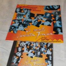 CDs de Música: CD LA NOVUELLE GENERATION FRANCAISE + LIBRETO CON LAS CANCIONES. Lote 99664383