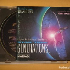 CDs de Música: STAR TREK GENERATIONS, BSO, BANDA SONORA, DENNIS MCCARTHY, CD ERCOM. Lote 99675723