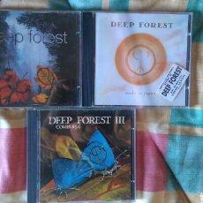 CDs de Música: DEEP FOREST.3 CDS.WORLD MUSIC. Lote 99712596