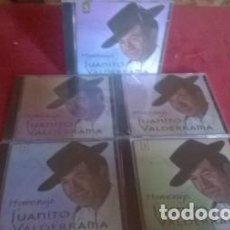 CDs de Música: JUANITO VALDERRAMA 5 CD´S HOMENAJE A JUANITO VALDERRAMA INTERPRETADOS POR EL PROPIO CANTANTE NUEVOS. Lote 124505570