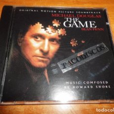 CDs de Música: THE GAME EL JUEGO BANDA SONORA CD ALBUM DEL AÑO 1997 USA MUSICA DE HOWARD SHORE . Lote 99747583