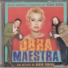 CDs de Música: OBRA MAESTRA CD BANDA SONORA ORIGINAL 2000 ROQUE BAÑOS DAVID TRUEBA ARIADNA GIL PRECINTADO. Lote 99971175
