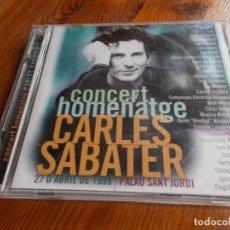 CDs de Música: CONCERT HOMENATGE CARLES SABATER 2 CD'S. Lote 99991375