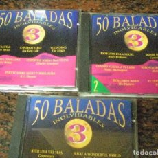 CDs de Música: 50 BALADAS INOLVIDABLES 3 ·. VOL 1, 2 Y 3. IMPECABLES. Lote 100040507