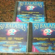 CDs de Música: TRES CD,S 50 BALADAS INOLVIDABLES 2. VOL 1, 2 Y 3. IMPECABLES. Lote 100041243