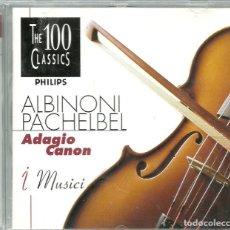 CDs de Música: CD - ALBINIONI - PACHELBEL - ADAGIO - CANON - HANDEL - BACH - THE 100 CLASSICS . Lote 100043479
