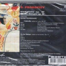 CDs de Música: PROKOFIEV: DOS BALLETS. CINDERELLA, OP.87; EN EL DNIEPER OP. 51 2 CDS. Lote 100074403