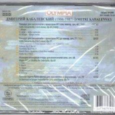 CDs de Música: KABALEVSKY: CONCIERTOS PARA VIOLONCELLO Nº 1 Y 2 Y OTRAS OBRAS PARA CELLO. Lote 100076779