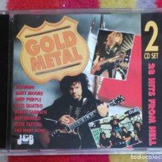CDs de Música: GOLD METAL - 2 CD'S - DEEP PURPLE - BLACK SABBATH - MOTORHEAD - GARY MOORE - ROSE TATTOO..... Lote 100091807