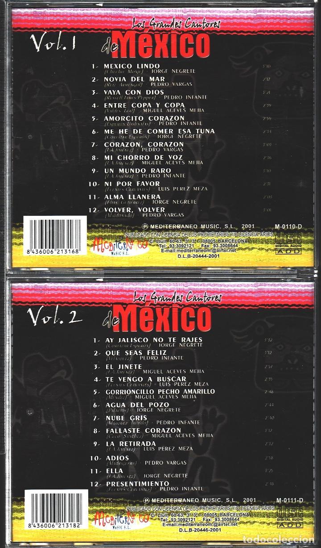 CDs de Música: MUSICA GOYO - CD ALBUM - GRANDES CANTORES DE MEXICO - DOBLE CD - - RARO - *UU99 - Foto 2 - 100119959
