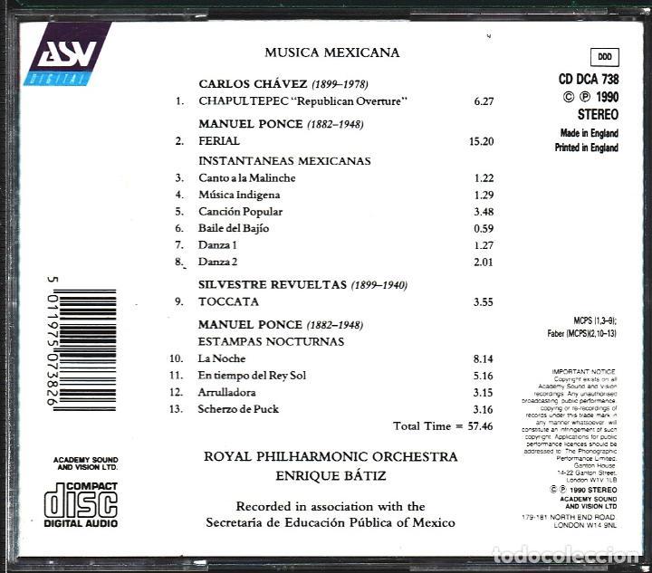 CDs de Música: MUSICA GOYO - CD ALBUM - MUSICA MEXICANA - ROYAL PHILARMONIC ORCHESTRA - RARO - *uu99 - Foto 2 - 100122443