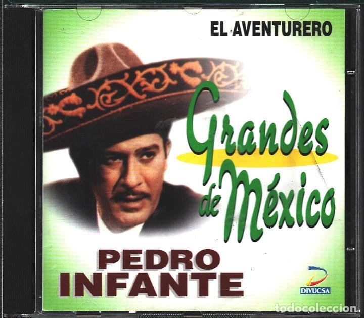 MUSICA GOYO - CD ALBUM - PEDRO INFANTE - GRANDES DE MEXICO - EL AVENTURERO - RARO - *UU99 (Música - CD's Latina)