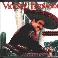 CDs de Música: MUSICA GOYO - CD ALBUM - VICENTE FERNANDEZ - MI HISTORIA - DOBLE CD - - *AA99. Lote 100125007