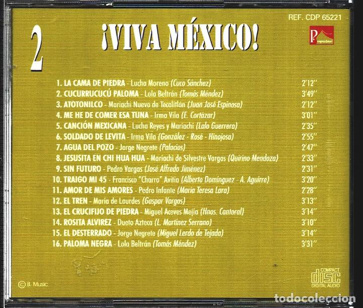 CDs de Música: MUSICA GOYO - CD ALBUM - VIVA MEXICO - CD TRIPLE - - RARO - *XX99 - Foto 5 - 100125687