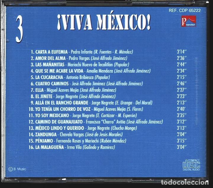 CDs de Música: MUSICA GOYO - CD ALBUM - VIVA MEXICO - CD TRIPLE - - RARO - *XX99 - Foto 7 - 100125687