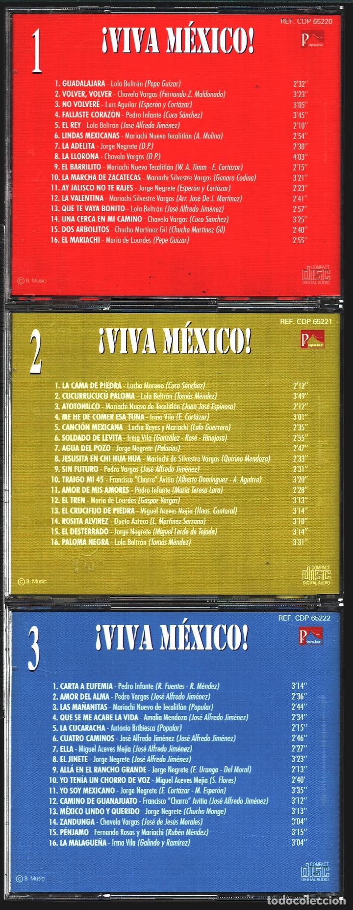 CDs de Música: MUSICA GOYO - CD ALBUM - VIVA MEXICO - CD TRIPLE - - RARO - *XX99 - Foto 8 - 100125687