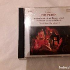 CDs de Música: LOUIS COUPERIN. TOMBEAU DE M. DE BLANCROCHER, PRELUDES, ETC. GLEN WILSON, HARPSICHORD. NAXOS CD. Lote 100178735