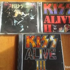 CDs de Música: LOTE KISS ALIVE, ALIVE II Y ALIVE III - 3 CDS DOS DE ELLOS DOBLES *IMPECABLES*. Lote 100206783