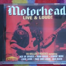 CDs de Música: MOTORHEAD (LIVE & LOUD!) CD 1995 * DIFICIL. Lote 100228699
