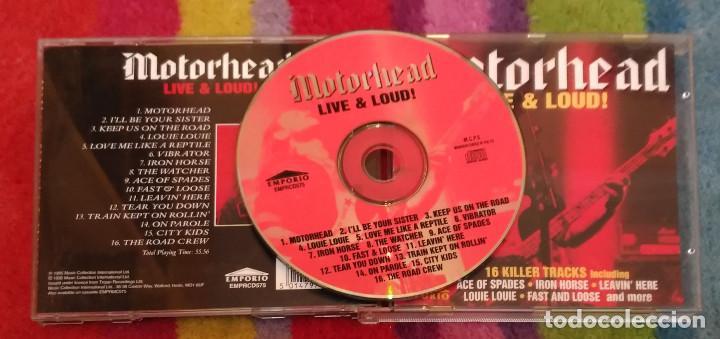 CDs de Música: MOTORHEAD (LIVE & LOUD!) CD 1995 * Dificil - Foto 2 - 100228699