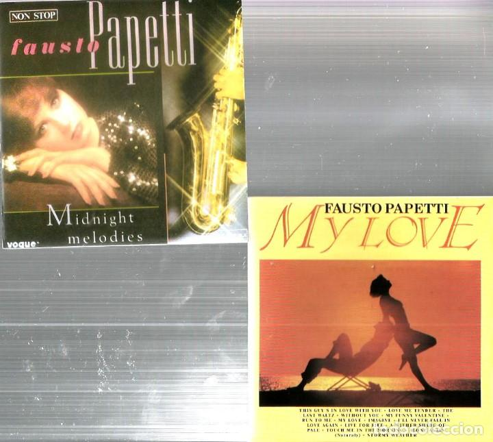 CDs de Música: 8 CD´S FAUSTO PAPETTI ( MY LOVE, HOLLYWOOD, MIDNIGHT MELODIES, AMOR DE VERANO, CANCIONES INOLVIDABLE - Foto 3 - 100302891
