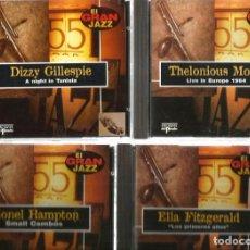 CDs de Música: 31 CD´S EL GRAN JAZZ ( JOHN COLTRANE, MILES DAVIS, BILLIE HOLIDAY, CHET BAKER, STAN GETZ, BUD POWELL. Lote 100304359
