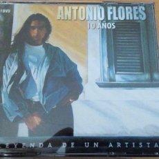 CDs de Música: ANTONIO FLORES - 10 AÑOS - LEYENDA DE UN ARTISTA - 2 CD + 1 DVD - BARON ROJO KETAMA ROSENDO. Lote 100342219