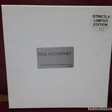 CDs de Música: PAUL MCCARTNEY - BEATLES - LIVERPOOL PRESS CONFERENCE 1990 - CAJITA CON CD Y 2 POSTALES- PRECIOSO. Lote 100538995