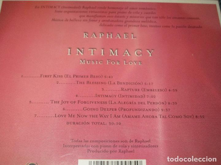 CDs de Música: INTIMACY ( MUSIC FOR LOVE ) - CD - RESCD045 - RAPHAEL - RAPTURE - FIRST KISS - GOING DEEPER ... - Foto 4 - 100569367