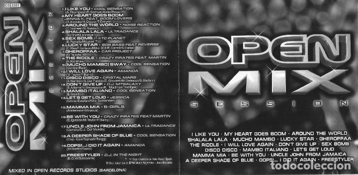 OPEN MIX SESSIONS (2000) 1 CD (OPEN RECORDS) (Música - CD's Disco y Dance)