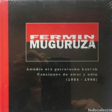 CDs de Música: FERMIN MUGURUZA AMODIO ETA GORROTOZKO KANTAK ( CANCIONES DE AMOR Y ODIO) 1984-1998. Lote 100742523