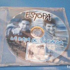 CDs de Música: ESTOPA LA RAJA DE TU FALDA CD SINGLE PROMOCIONAL CONTIENE 1 TEMA SOLO PARA RADIOS. Lote 100921475