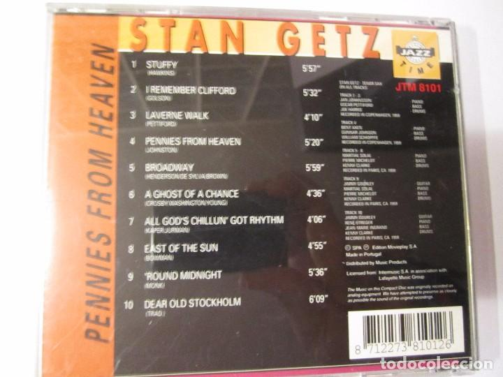 CDs de Música: cd stan getz pennies from heaven jazz time - Foto 2 - 100998587