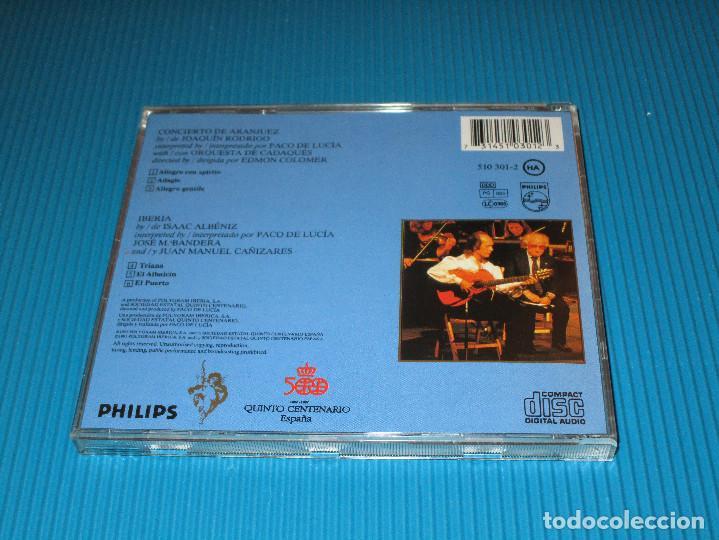 CDs de Música: PACO DE LUCIA ( CONCIERTO DE ARANJUEZ ) - CD - 510 301-2 - PHILIPS - JOAQUIN RODRIGO - Foto 3 - 101014859
