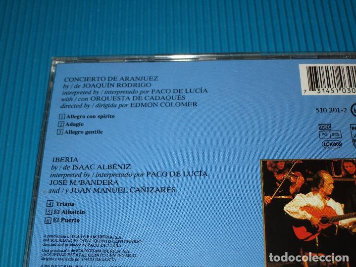 CDs de Música: PACO DE LUCIA ( CONCIERTO DE ARANJUEZ ) - CD - 510 301-2 - PHILIPS - JOAQUIN RODRIGO - Foto 4 - 101014859