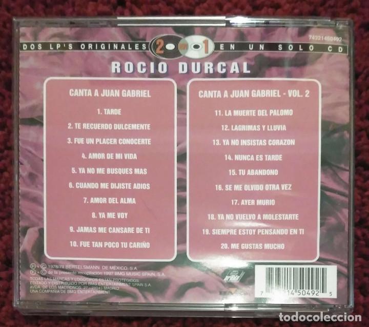 CDs de Música: ROCIO DURCAL (CANTA A JUAN GABRIEL VOL. 1 Y VOL. 2) CD 1997 Serie 2 en 1 - Foto 2 - 101099647