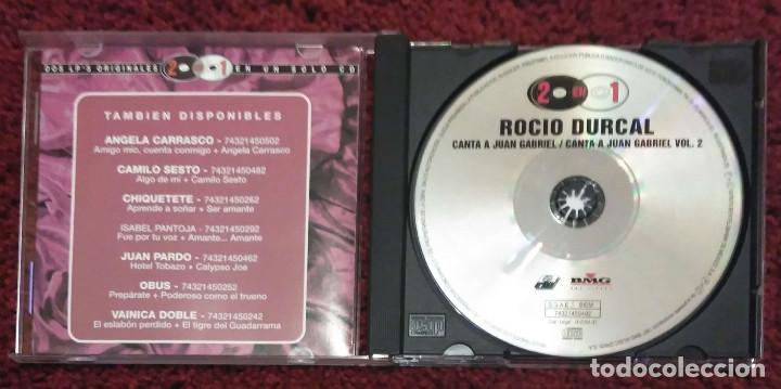CDs de Música: ROCIO DURCAL (CANTA A JUAN GABRIEL VOL. 1 Y VOL. 2) CD 1997 Serie 2 en 1 - Foto 3 - 101099647