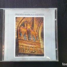 CDs de Música: CD JORGE MÉNDEZ MÚSICA PARA ÓRGANO BARROCO ESPAÑOL ASTURIAS CLÁSICA. Lote 101128399