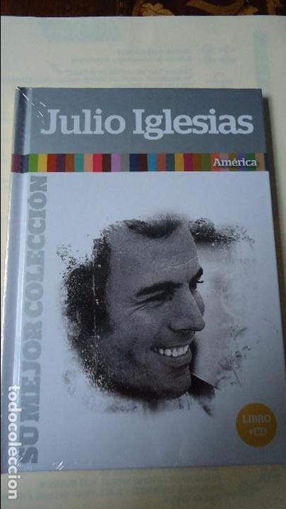CD MÁS LIBRO. JULIO IGLESIAS,SU MEJOR COLECCIÓN. AMÉRICA.CON 12 CANCIONES. (Música - CD's Melódica )
