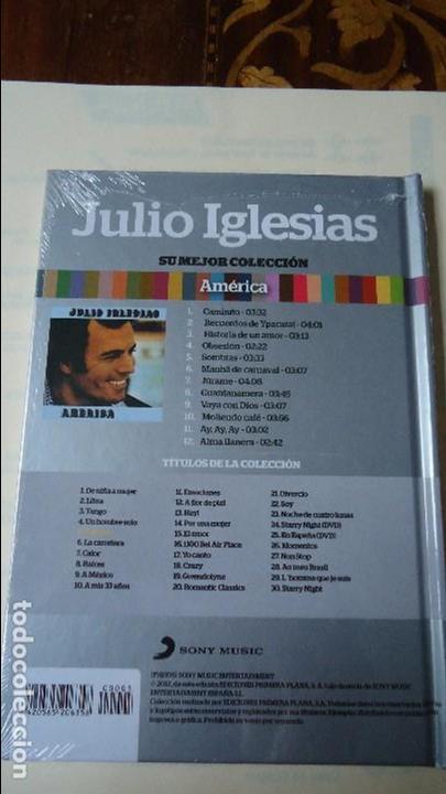 CDs de Música: CD MÁS LIBRO. JULIO IGLESIAS,SU MEJOR COLECCIÓN. AMÉRICA.CON 12 CANCIONES. - Foto 2 - 101157527