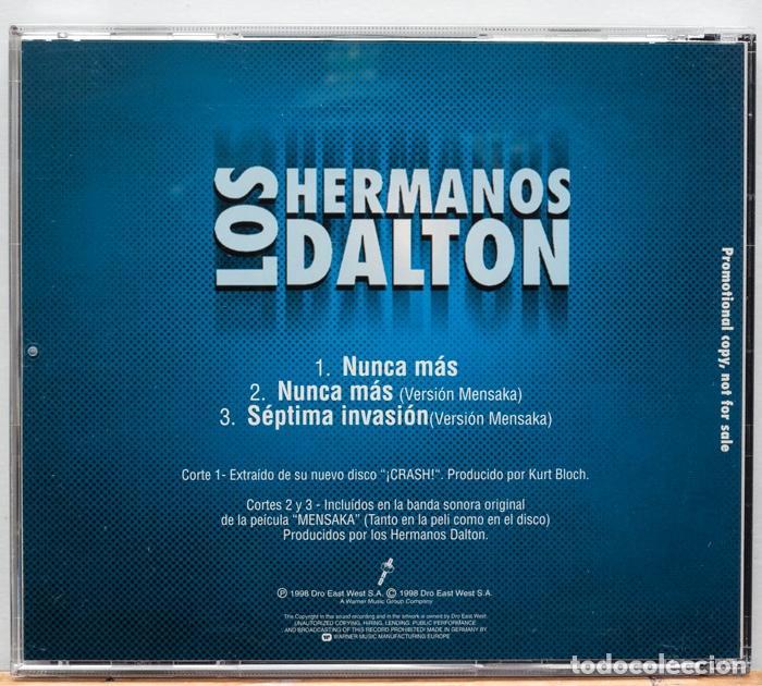 CDs de Música: Los Hermanos Dalton / Nunca Mas (Promo) - Foto 2 - 101169451
