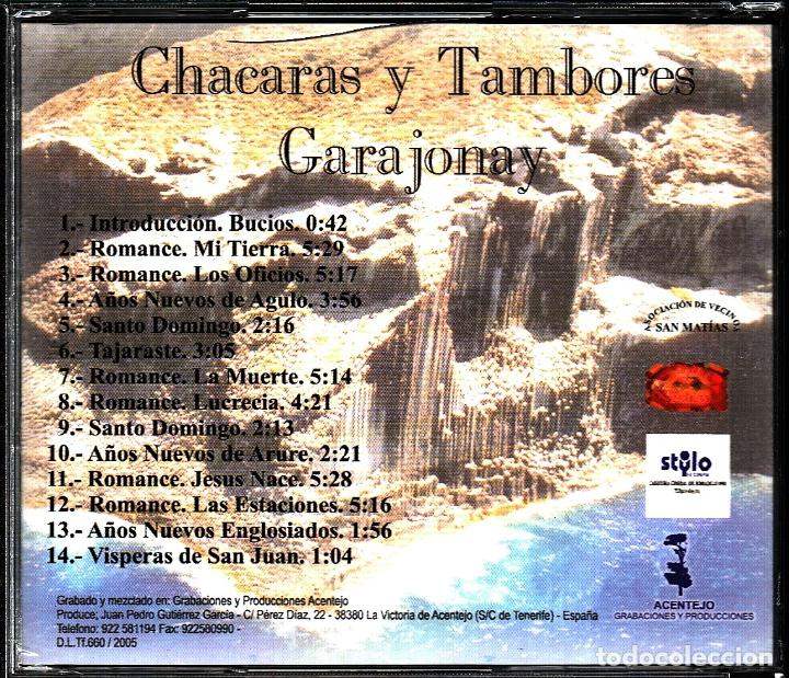 CDs de Música: MUSICA GOYO - CD ALBUM - GARAJONAY - CHACARAS Y TAMBORES - PRECINTADO-RARISIMO - *UU99 - Foto 2 - 101184895