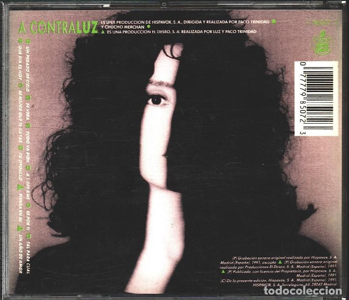 CDs de Música: MUSICA GOYO - CD ALBUM - LUZ CASAL - A CONTRALUZ - *AA98 - Foto 2 - 101186923