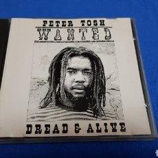 CDs de Música: PETER TOSH WANTED DREAD & ALIVE CD ALBM 9 TEMAS DESCATALOGADO. Lote 101187687