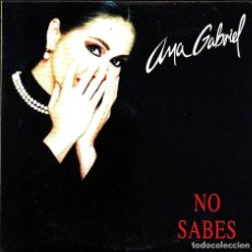 CDs de Música: MUSICA GOYO - CD SINGLE - ANA GABRIEL - NO SABES - RARO - *AA98. Lote 101213231