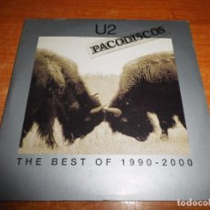 CDs de Música: U2 THE BEST OF 1990-2000 THE HISTORY MIX DVD PROMO CARTON 2002 BONO CONTIENE 4 TEMAS NO CD. Lote 101398195