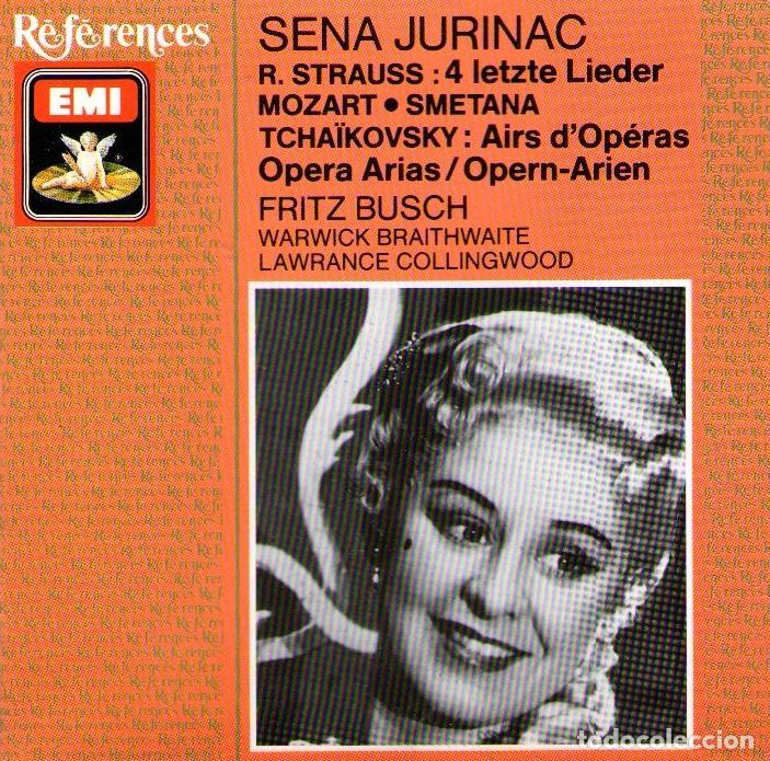 SENA JURINAC, SOPRANO - OPERA ARIAS - MOZART / STRAUSS / TCHAIKOVSKY - EMI REFERENCES 1989 (Música - CD's Clásica, Ópera, Zarzuela y Marchas)