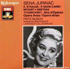 CDs de Música: SENA JURINAC, SOPRANO - OPERA ARIAS - MOZART / STRAUSS / TCHAIKOVSKY - EMI REFERENCES 1989. Lote 101416035