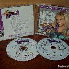 CDs de Música: HANNAH MONTANA 3 - CD + DVD BANDA SONORA ORIGINAL BSO. Lote 101680527